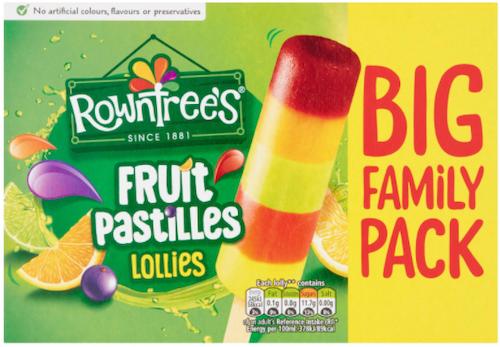 Rowntree's Saftis med Fruktsmak 8 stk, 520 ml