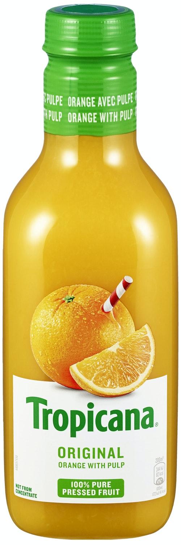 Tropicana Presset Appelsin M/fruktkjøtt 0,9 l