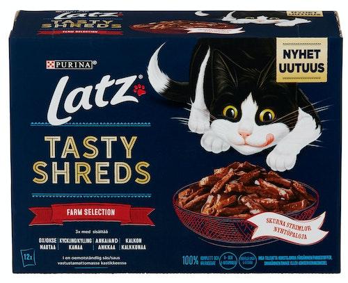 Nestlé Latz Tasty Shreds Kjøtt 12 stk, 960 g