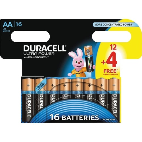 Duracell Batteri AA12 Plus Power 16 stk