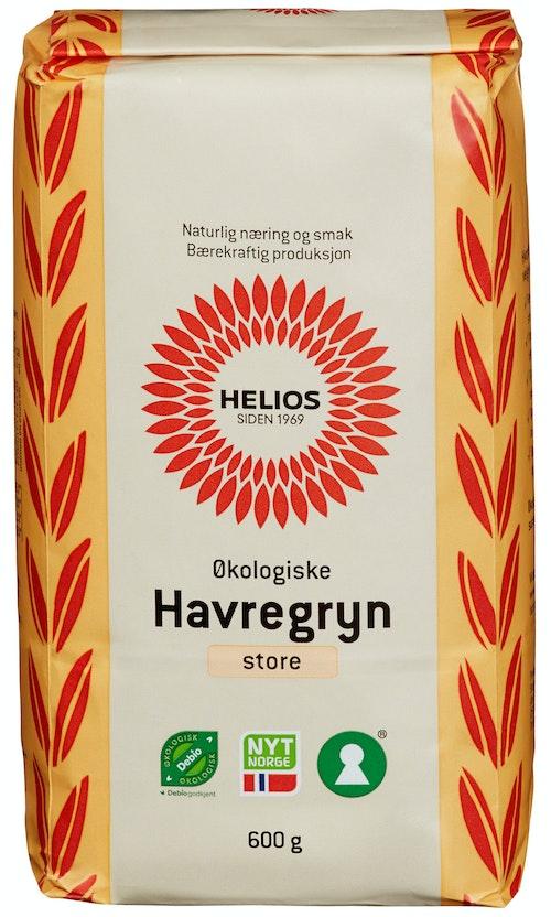 Helios Havregryn Økologisk Store, 600 g