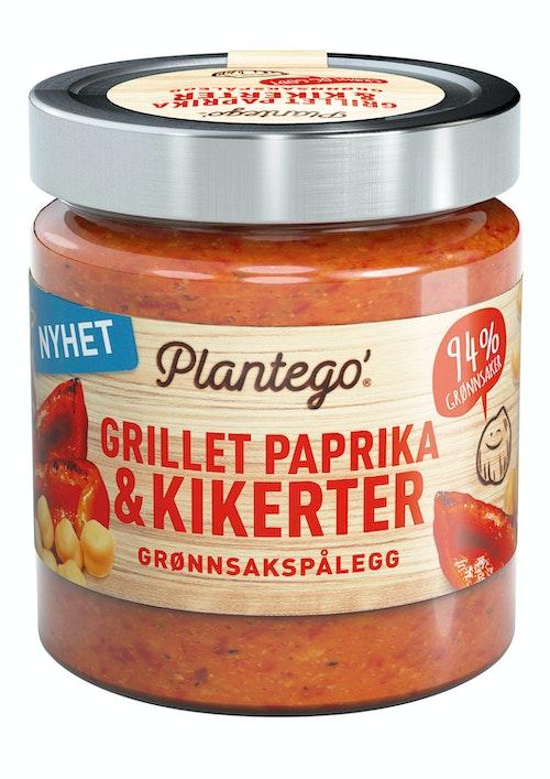Plantego Grønnsakspålegg Grillet Paprika og Kikerter, 165 g