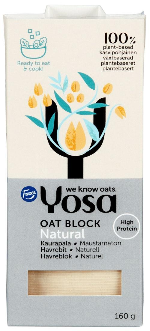 Yosa Havrebit Naturell Proteinrikt Havrebasert Matlagingsprodukt, 160 g