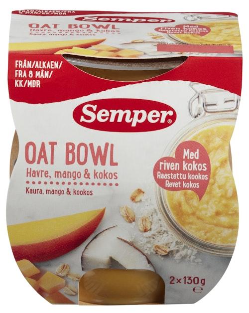 Semper Oat Bowl Mango & Koko 8mnd 2x130g, 260 g