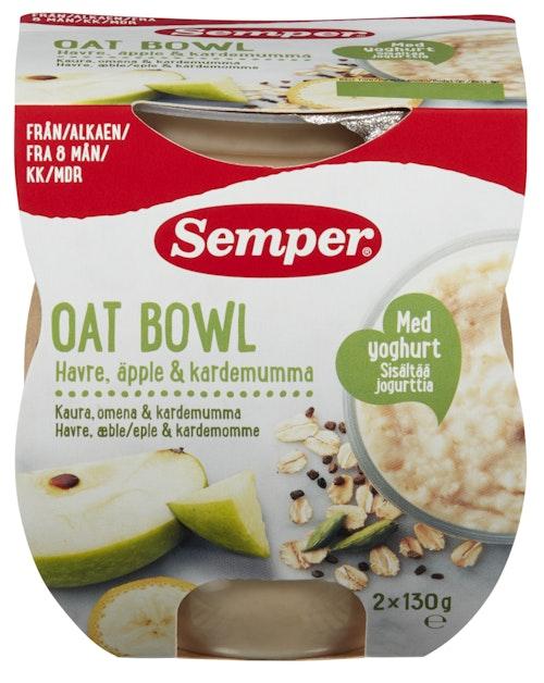 Semper Oat Bowl Eple & Kardemomme Fra 8 mnd 2 x 130 gr, 260 g