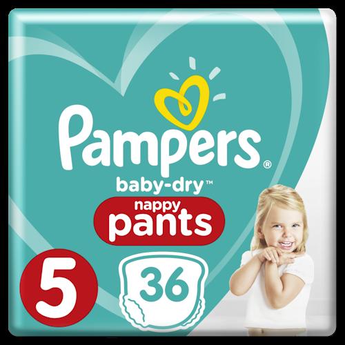 Pampers Pampers Bleie Baby Dry Pants Str.5 12-17kg, 36 stk