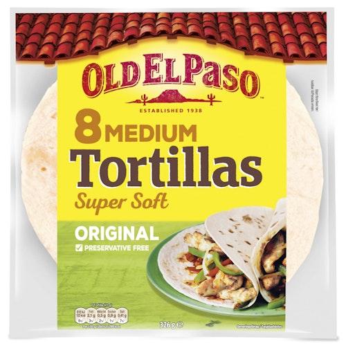Old El Paso Tortillas 8 stk Medium, 326 g