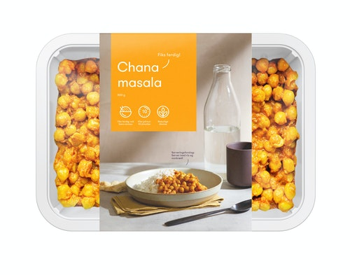 Oda Chana Masala Fiks ferdig, 2 Porsjoner, 800 g