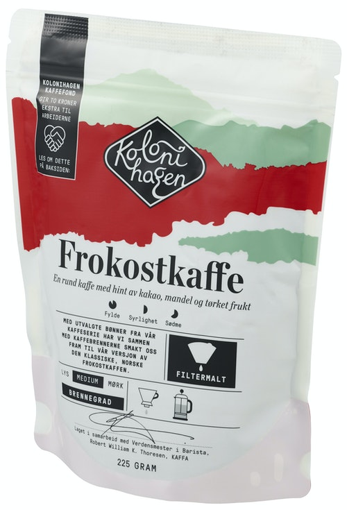Kolonihagen Frokostkaffe Filtermalt, 225 g