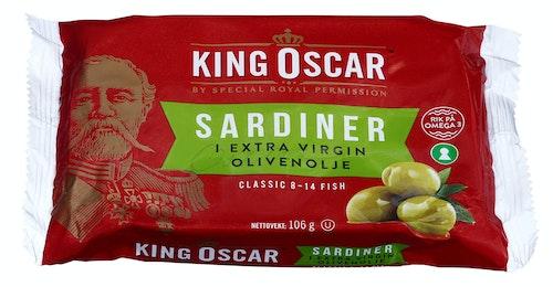 King Oscar Sardiner i Olivenolje Classic, 106 g