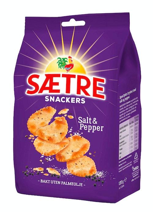 Sætre Snackers Salt & Pepper 120 g