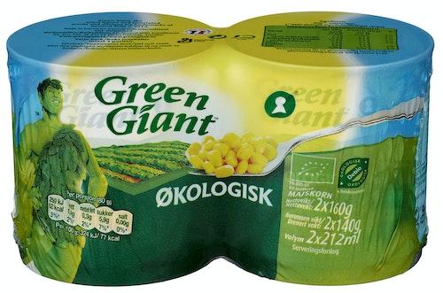 Green Giant Mais Økologisk 2x160g, 320 g