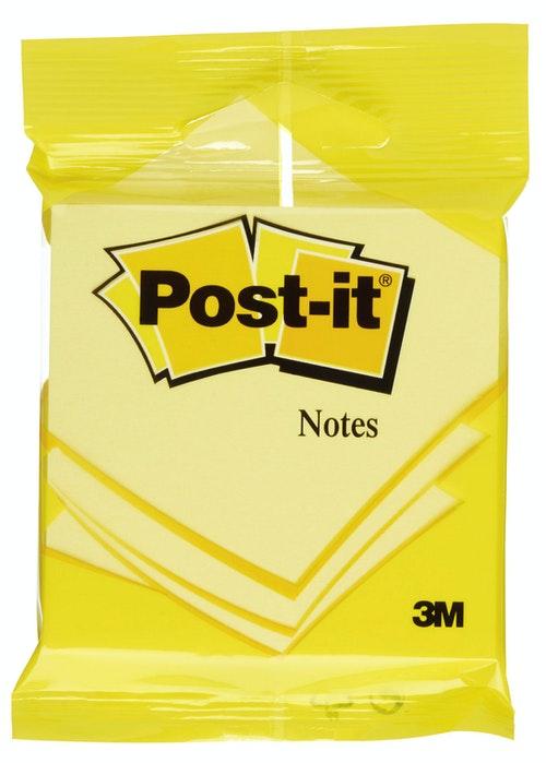 Post-it Post-It Blokk Gul 76x76mm, 1 stk