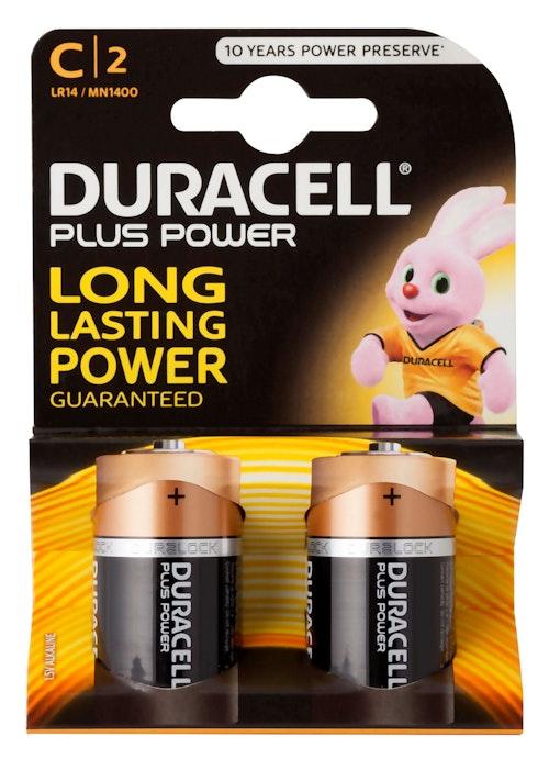 Duracell Batteri C Plus Power 2 stk