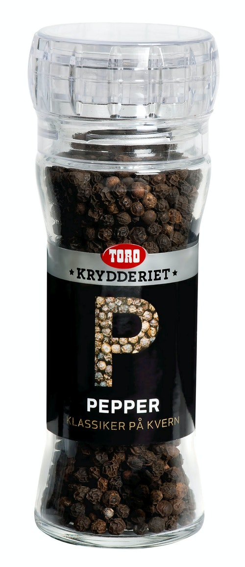 Toro Sort Pepper Hel Med Kvern, 65 g