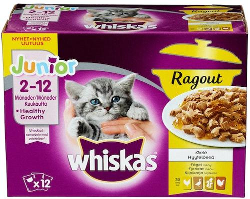 Whiskas Whiskas Junior Ragout 12x85g, 1,02 kg