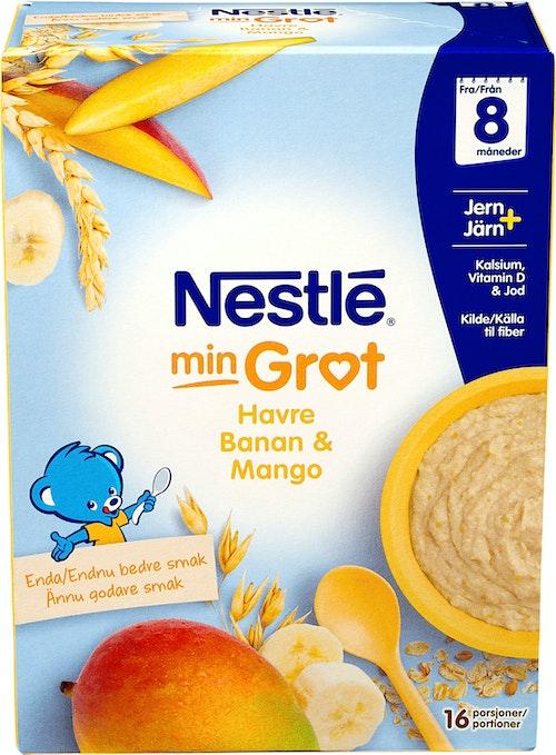 Nestlé Min Grøt Havre Banan Mango Fra 8 mnd, 480 g