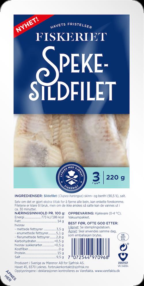 Fiskeriet Spekesildfilet 220 g