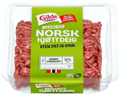 Gilde Naturlig godt Kjøttdeig, økologisk Uten salt og vann, 400 g