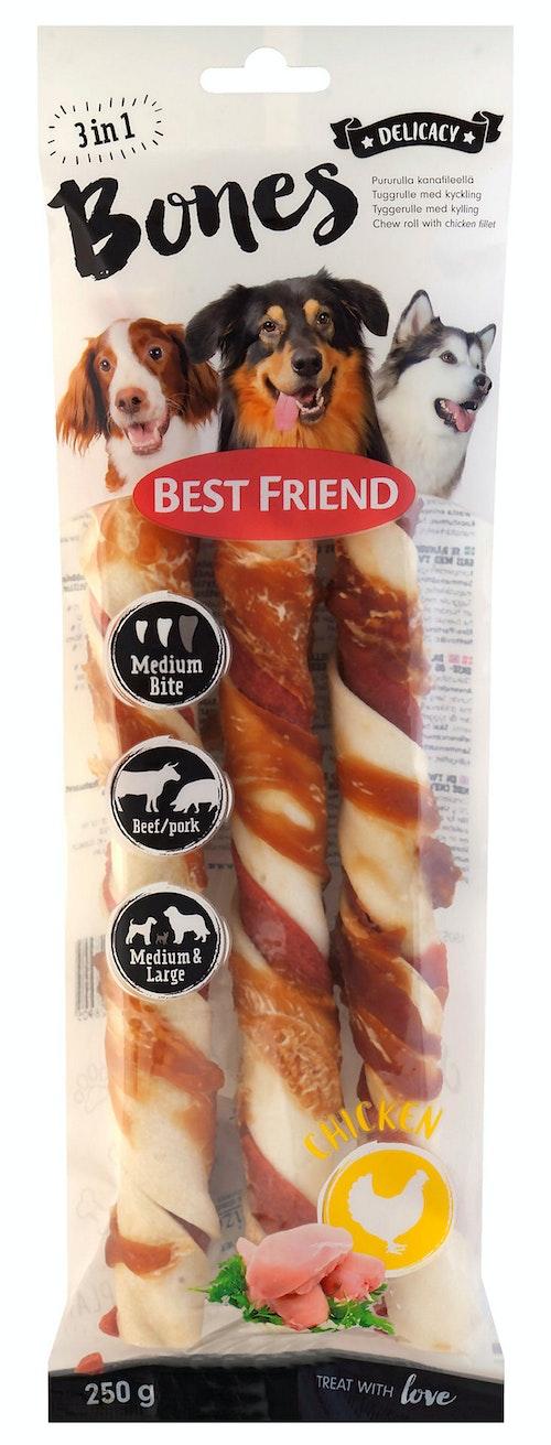 Best Friend Bones 3 in 1 Rull 3 x 25cm, 125 g