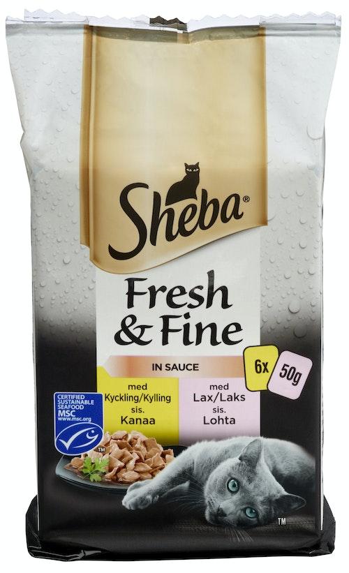 Sheba Pouch Mini Mix 6 x 50 g, 300 g