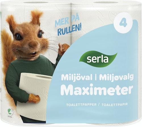Serla Maximeter Toalettpapir 4 stk