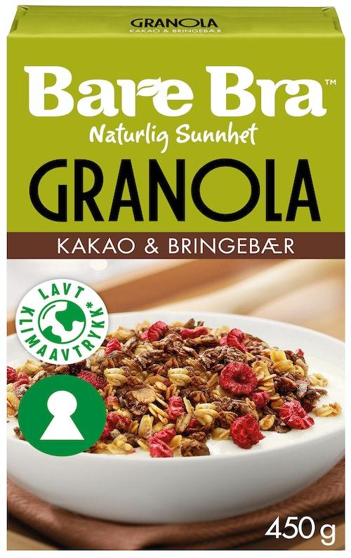 Bare Bra Supergranola Kakao & Bringebær 450 g