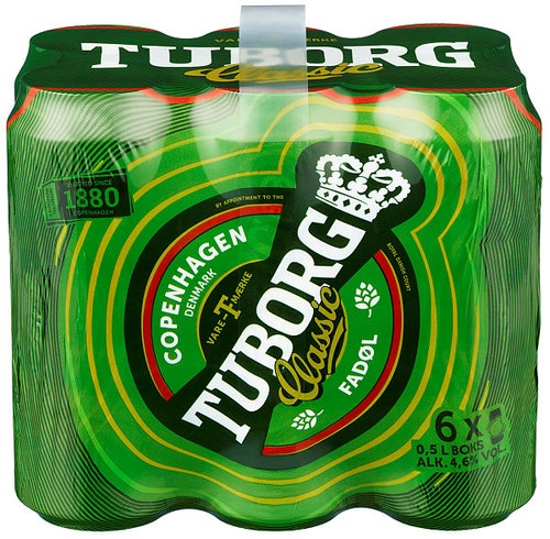 Tuborg Tuborg Classic 6 x 0,5l, 3 l