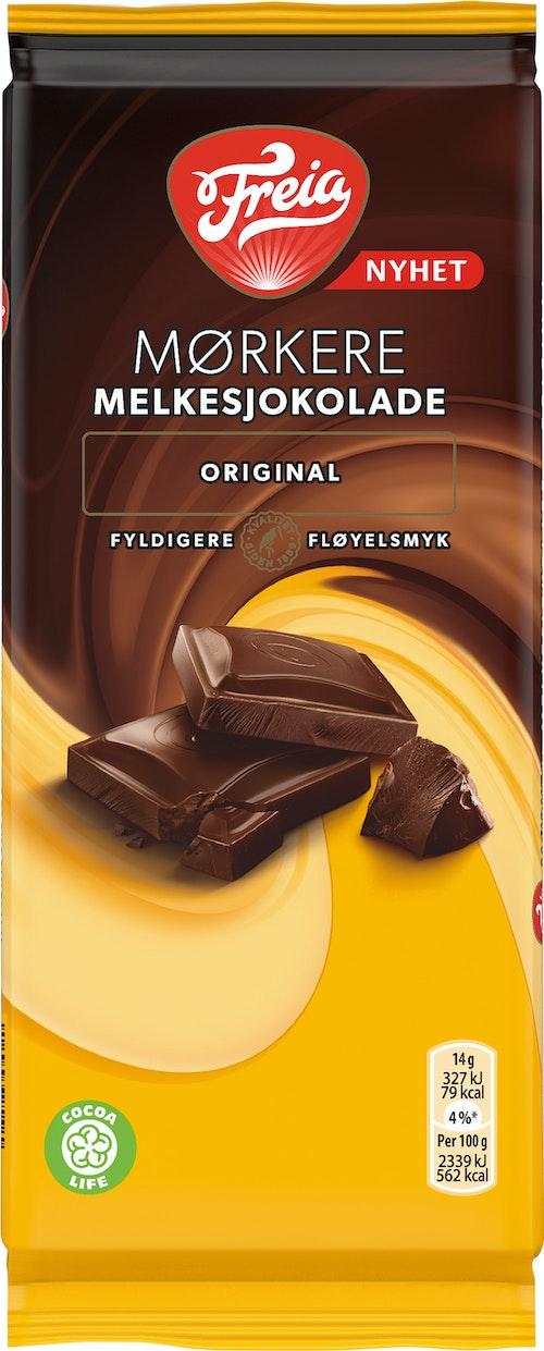 Freia Mørkere Melkesjokolade Original, 85 g