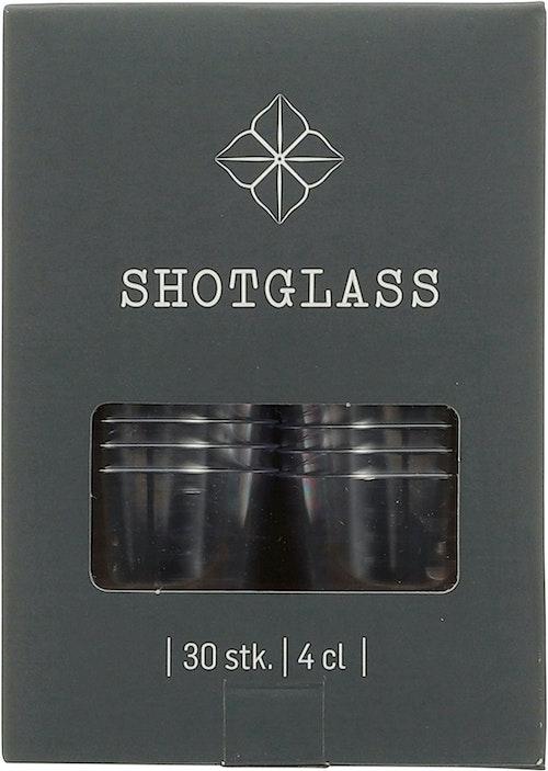 Shotglass 4 cl, 30 stk