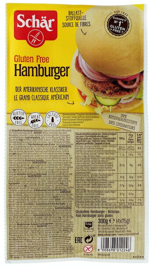 Schär Hamburgerbrød Glutenfri, 300 g