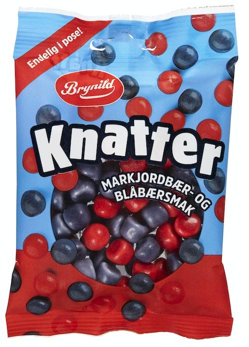 Brynild Knatter Markjordbær- og Blåbærsmak, 80 g