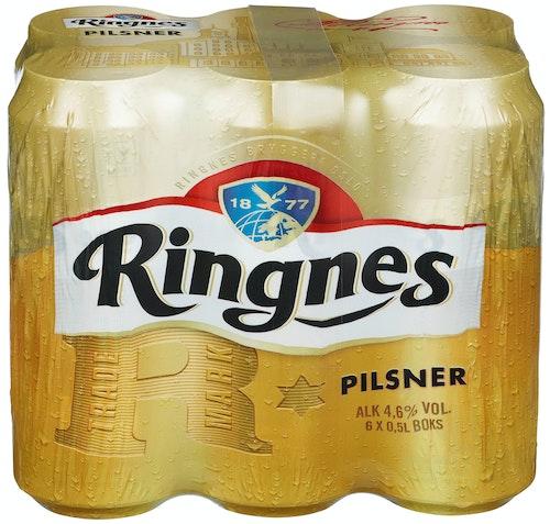 Ringnes Ringnes Pilsner 6x0,5 liter, 3 l