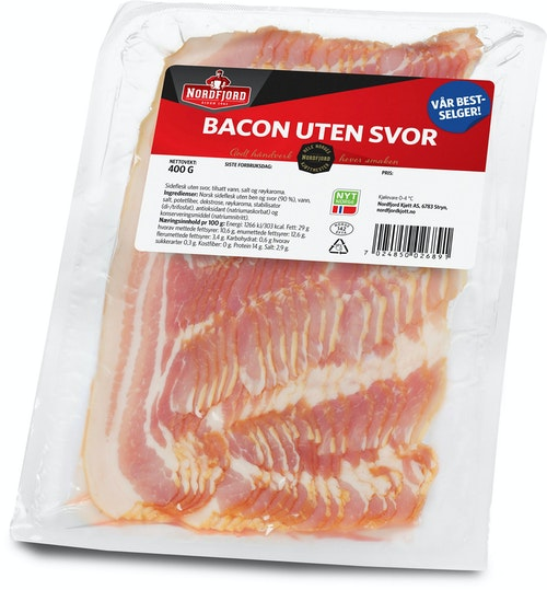 Nordfjord Bacon Uten Svor 400 g
