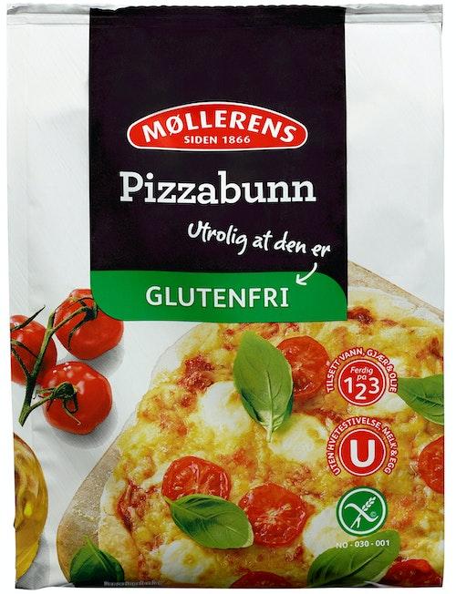 Møllerens Pizzabunn Glutenfri, 0,3 kg