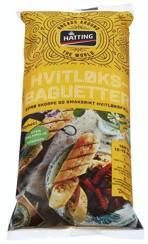 Hatting Hvitløksbaguetter 2 stk, 350 g