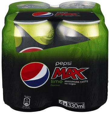 PepsiCo Pepsi Max Lime 4 x 0,33l, 1,32 l