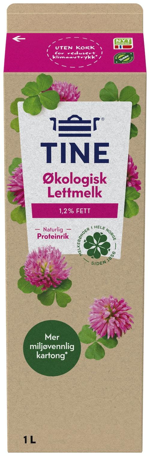 Tine TineMelk Økologisk Lett 1,2%, 1 l
