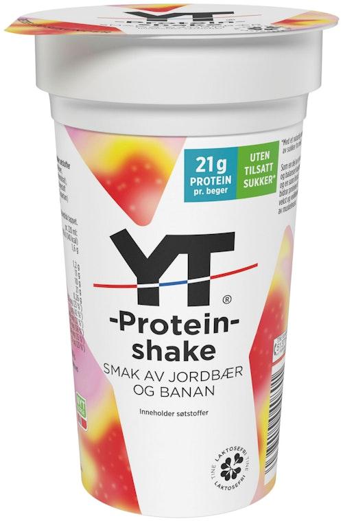 Tine YT Proteinrik 220ml Jordbær & banshake, 220 ml