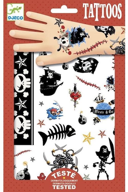 Djeco Tatoveringer med Pirater 1 stk