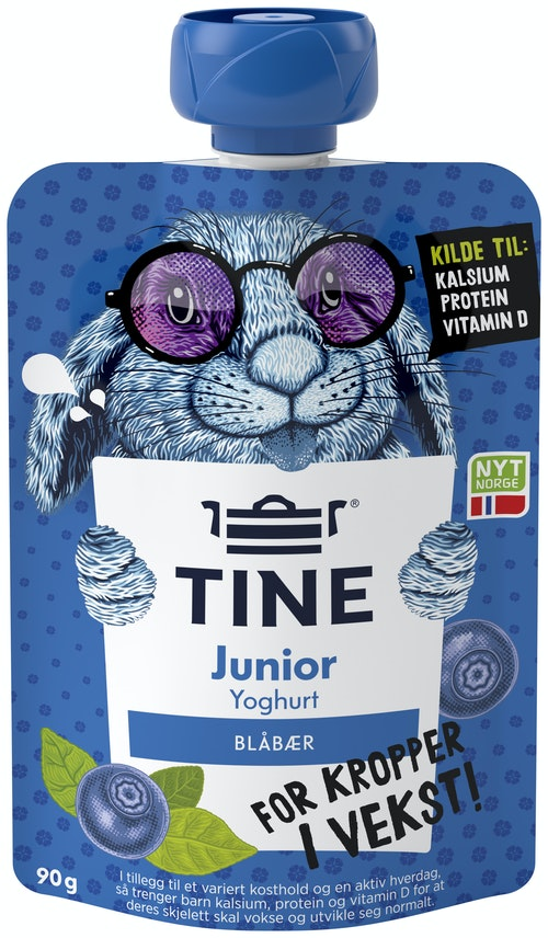 Tine Junior Yoghurt Blåbær, 90 g