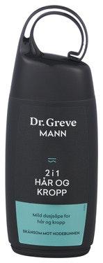 Dr. Greve Dusjgele Mann 2i1 Hår og Kropp, 250 ml