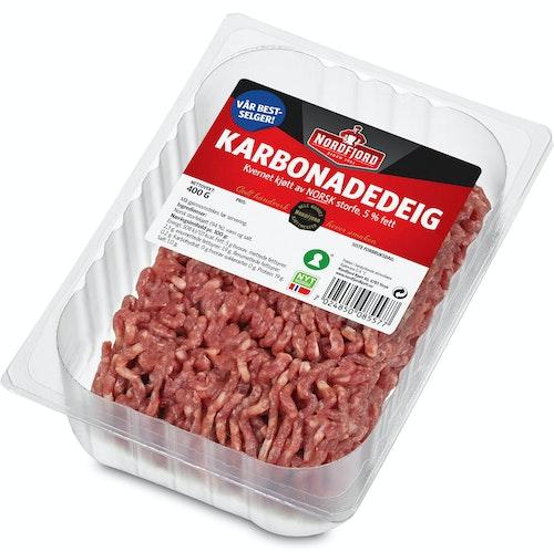Nordfjord Karbonadedeig av Storfe 5%, 400 g