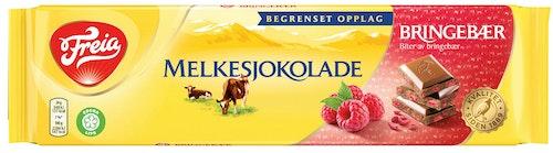 Freia Melkesjokolade Bringebær Limited Edition, 190 g