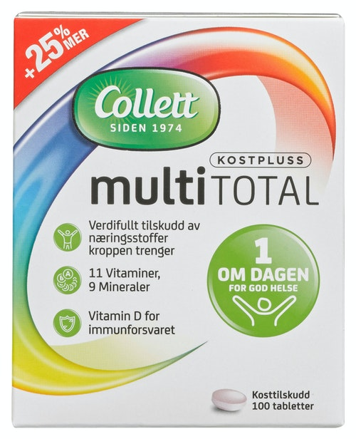 Collett Kost+multitotal 100 stk