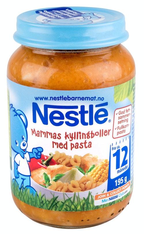 Nestlé Mammas Kyllingboller med Pasta Fra 12 mnd, 195 g
