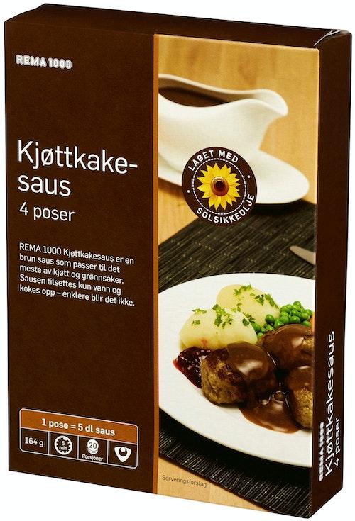 REMA 1000 Kjøttkakesaus 4pk, 4 stk