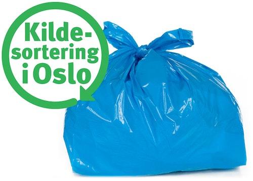 Renovasjonsetaten Oslo Kommune Kildesorteringsposer til plastemballasje Rull med 20 poser, 1 stk