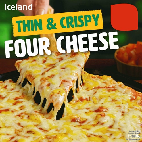 Iceland Fire Oster Pizza Thin & Crispy, 300 g