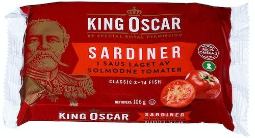 King Oscar Sardiner i Tomatsaus Classic, 106 g